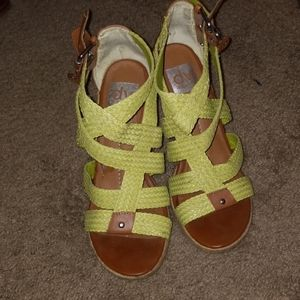Green Strapped Wedge